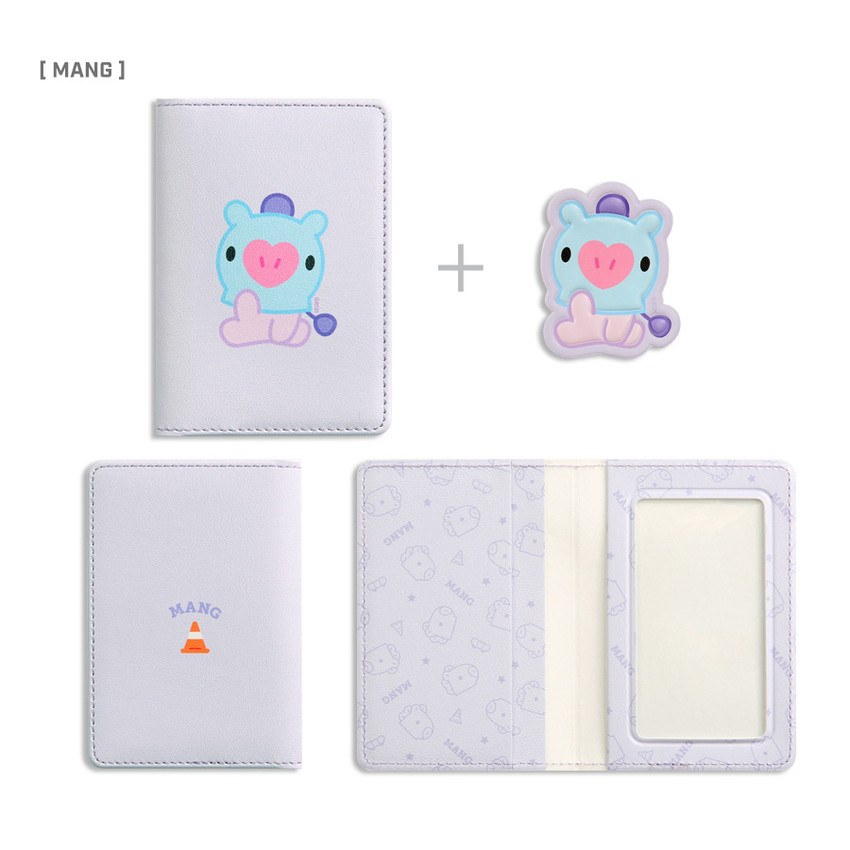 MANG - BT21 Baby card case with leather sticker