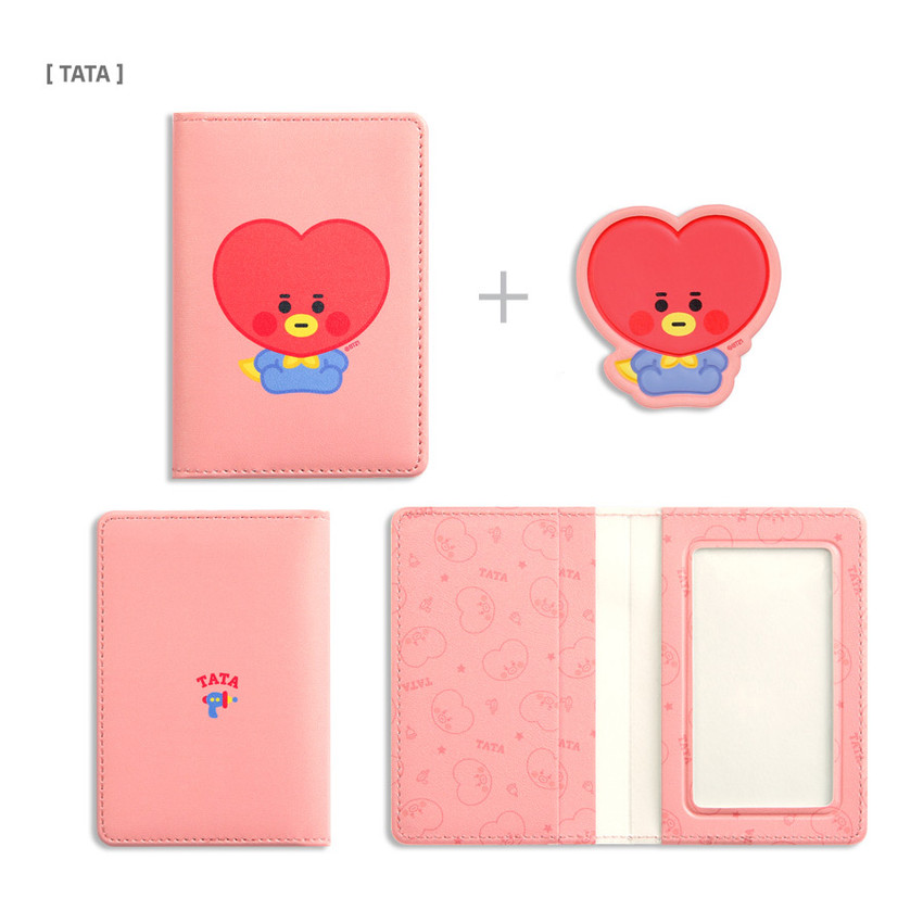TATA - BT21 Baby card case with leather sticker