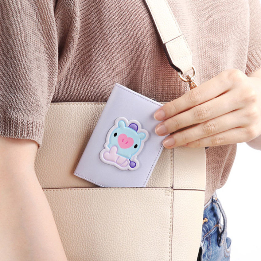 Usage example - BT21 Baby card case with leather sticker