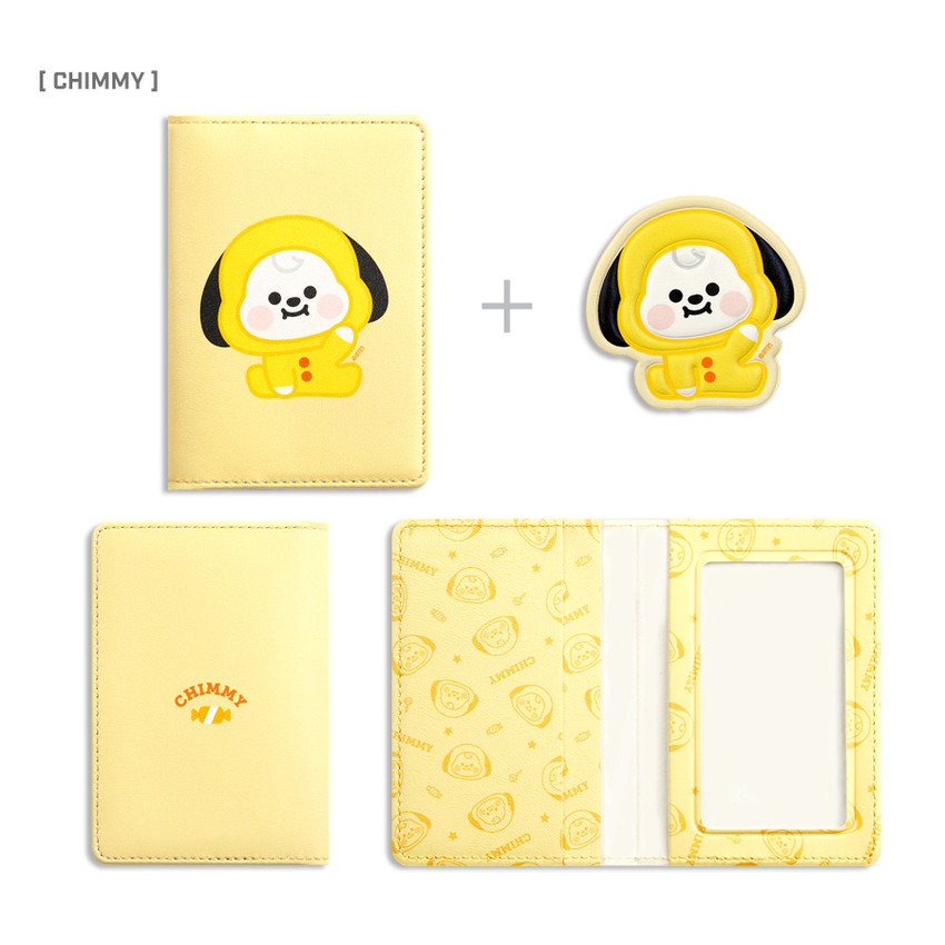 CHIMMY- BT21 Baby card case with leather sticker