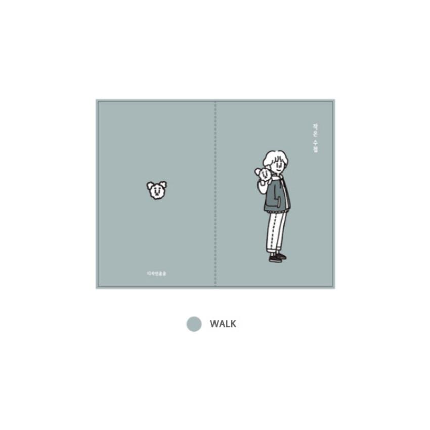 Walk - DESIGN GOMGOM My You small blank notebook