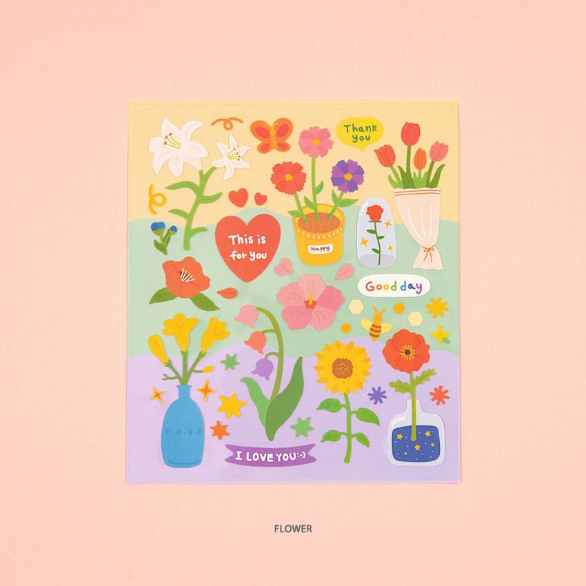 Flower - Ardium Dessert and Flower unbelievable removable sticker