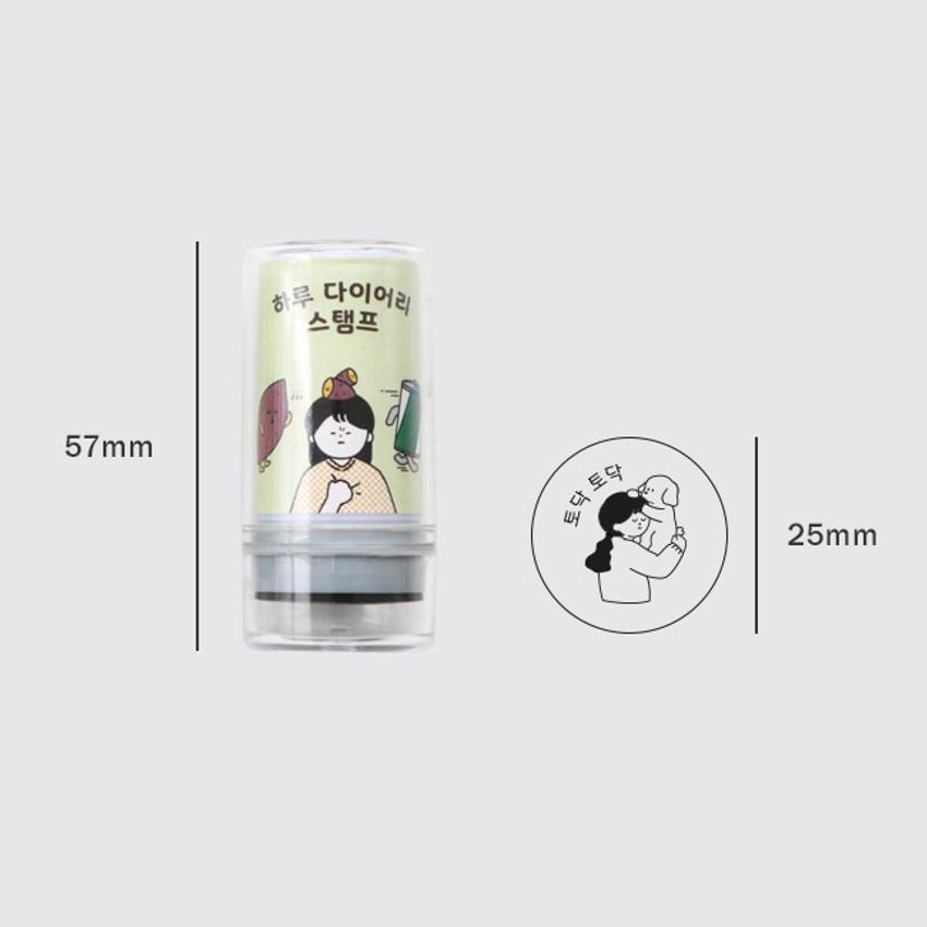 Size - ICONIC Haru self inking stamp