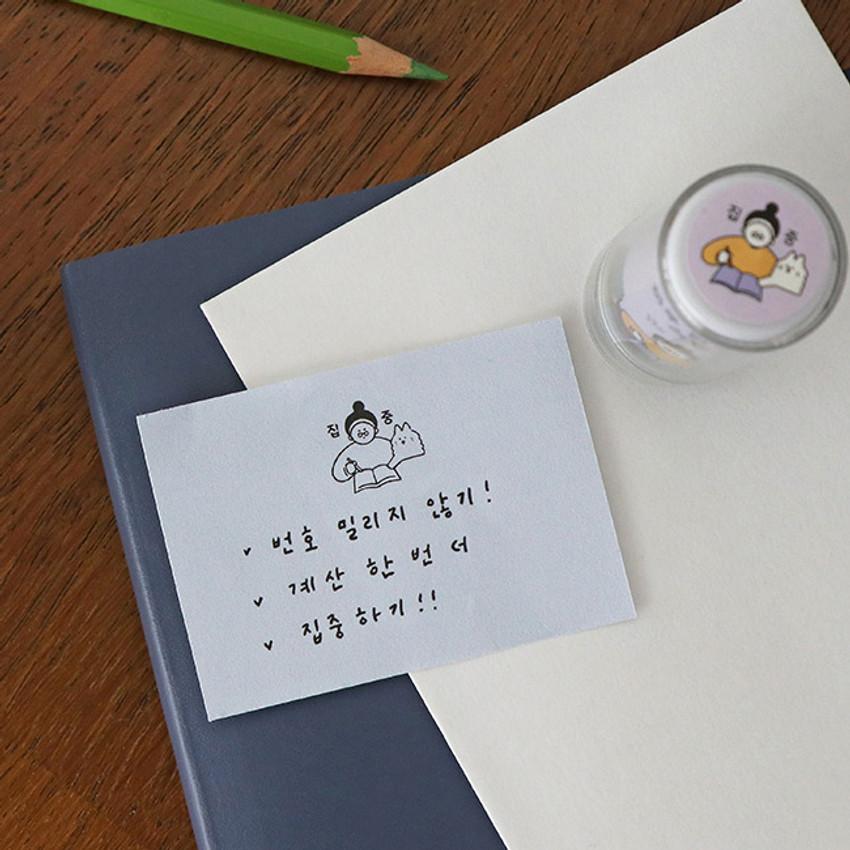 Usage example - ICONIC Haru self inking stamp