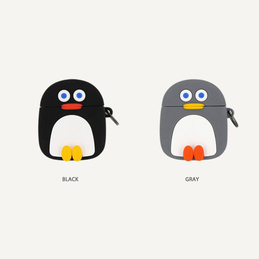 Color - ROMANE Penguin AirPods silicone case cover