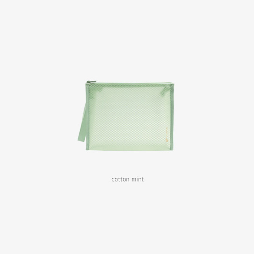 cotton mint - Byfulldesign Travelus medium coated mesh pouch ver3