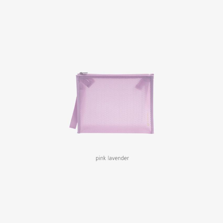 Pink Lavender - Byfulldesign Travelus medium coated mesh pouch ver3