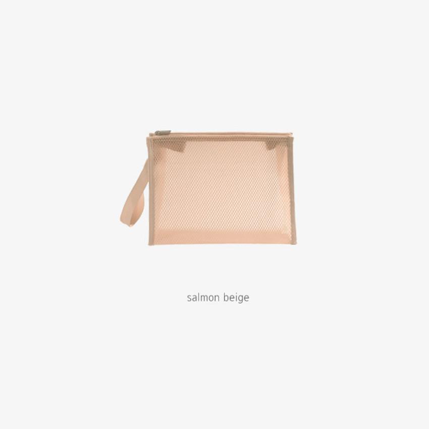 Salmon Beige - Byfulldesign Travelus medium coated mesh pouch ver3