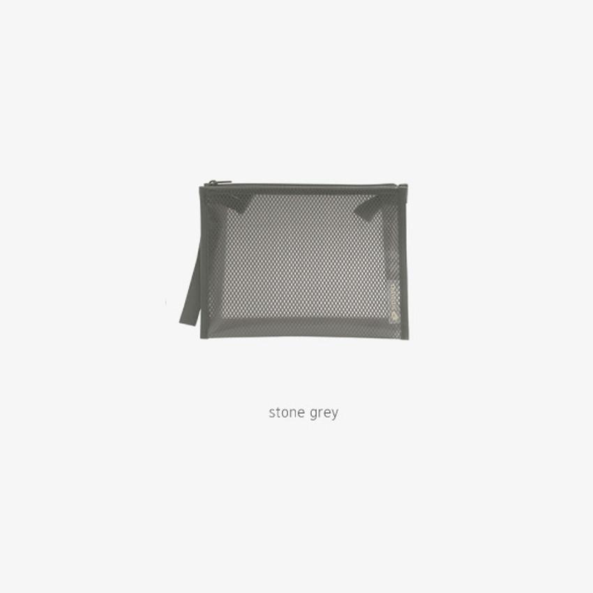 Stone Gray - Byfulldesign Travelus medium coated mesh pouch ver3