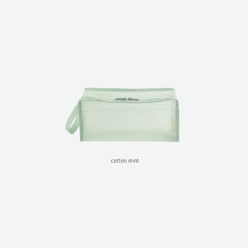 Cotton Mint - Byfulldesign Travelus cube long coated mesh pouch