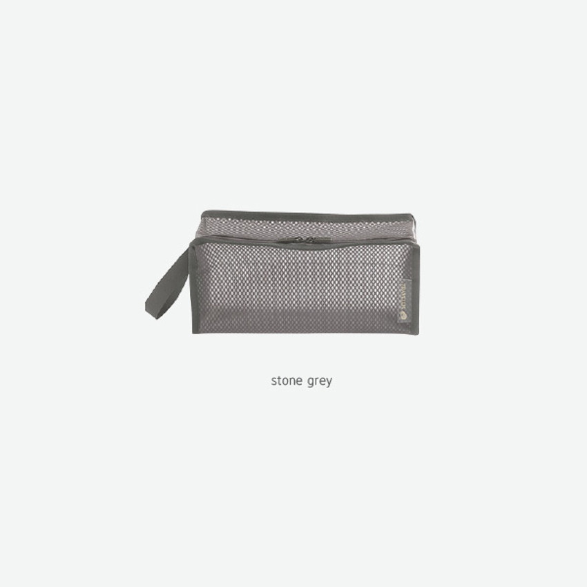 Stone Gray - Byfulldesign Travelus cube long coated mesh pouch