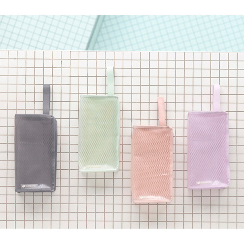 Byfulldesign Travelus cube long coated mesh pouch