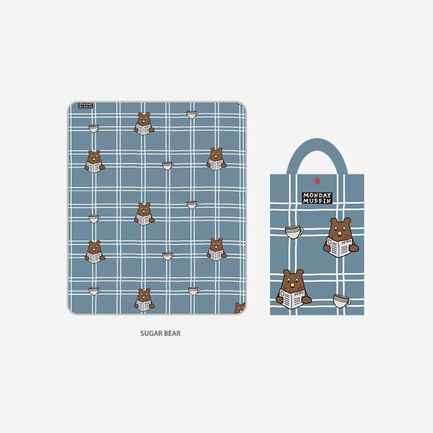 Sugar Bear - ROMANE Cute Water-resistant picnic mat with bag