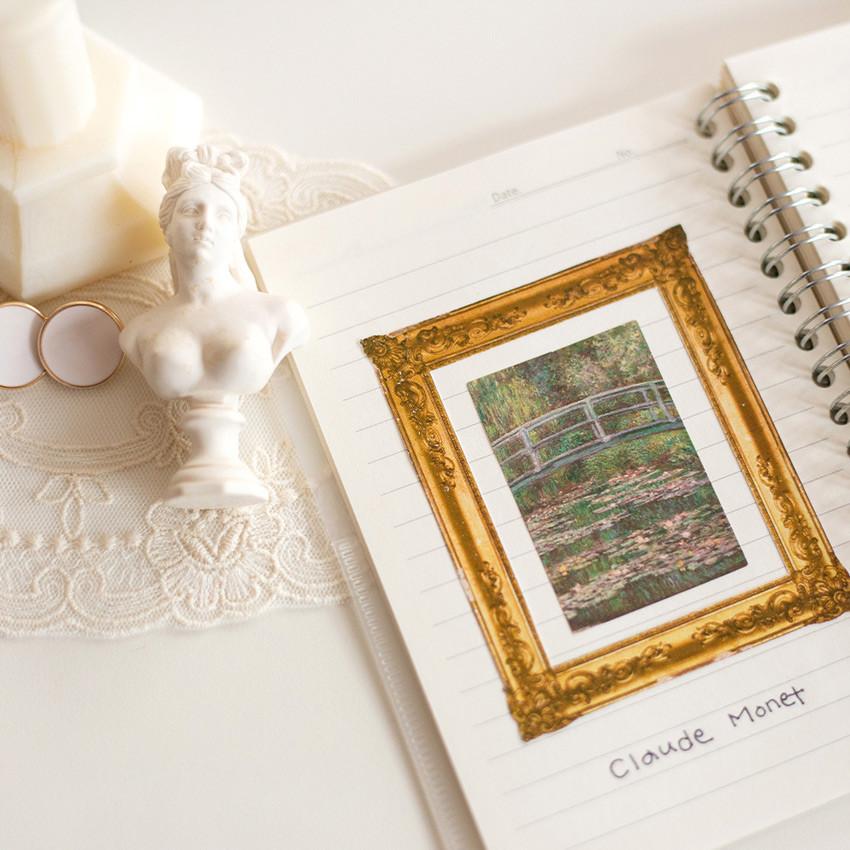Usage example - NACOO Claude Monet 2 Nympheas label sticker set