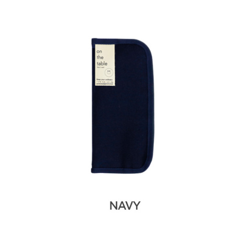 Navy -  After The Rain On the table zipper pen case pouch