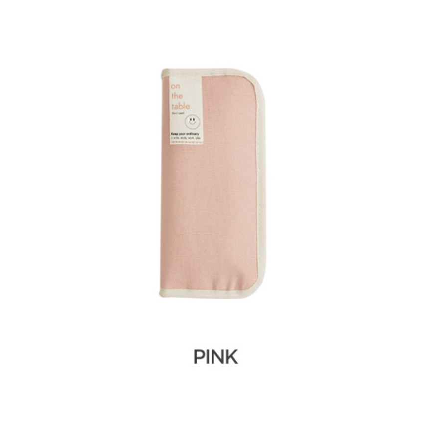 Pink -  After The Rain On the table zipper pen case pouch