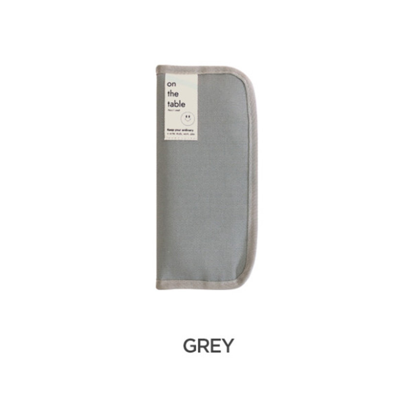 Gray -  After The Rain On the table zipper pen case pouch