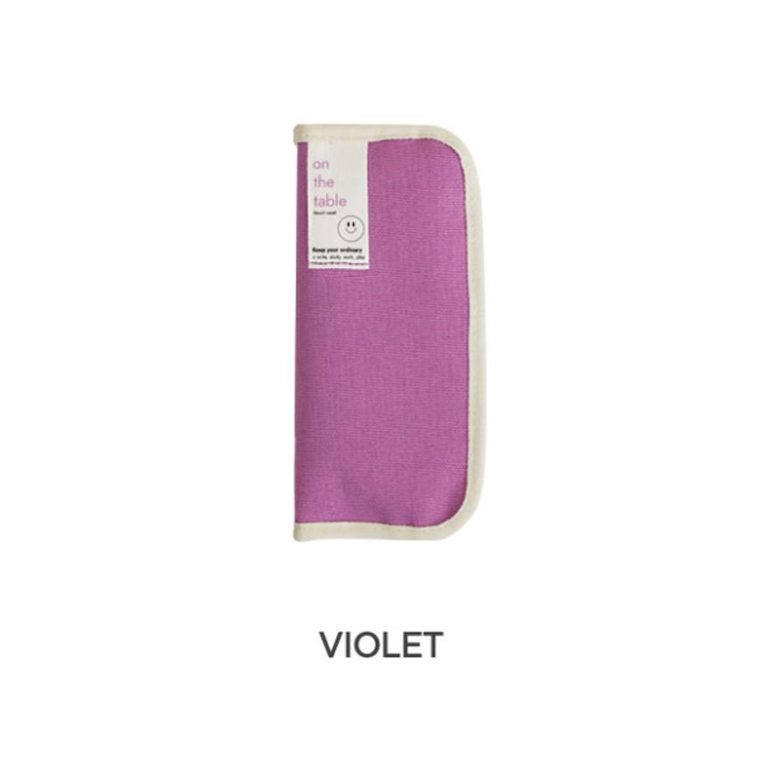 Violet -  After The Rain On the table zipper pen case pouch