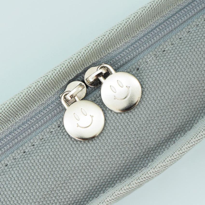 Double zip closure -  After The Rain On the table zipper pen case pouch