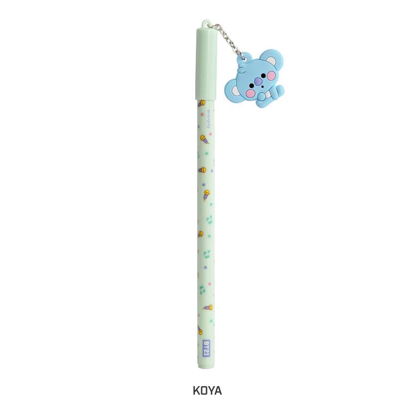 KOYA - BT21 Baby mascot balck ballpoint pen 0.5mm