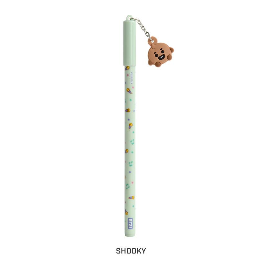 SHOOKY - BT21 Baby mascot balck ballpoint pen 0.5mm