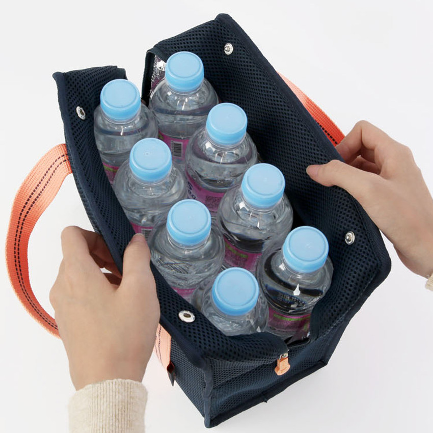 Stores up to 8 bottles - Monopoly Air mesh insulated lunch tote bag