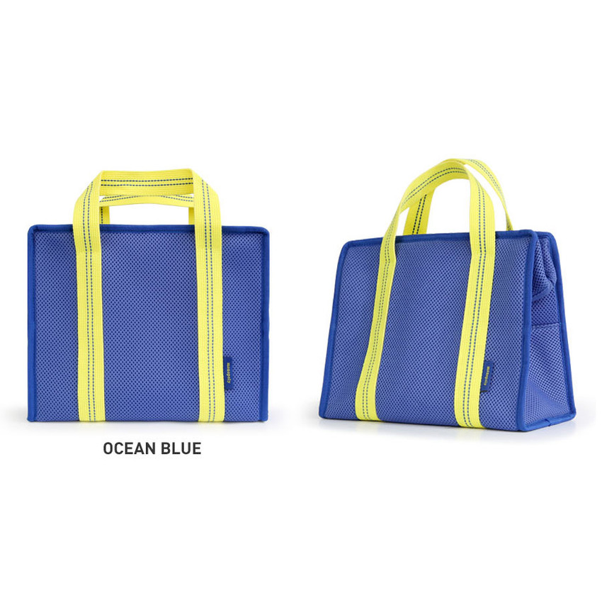 Ocean Blue - Monopoly Air mesh insulated lunch tote bag