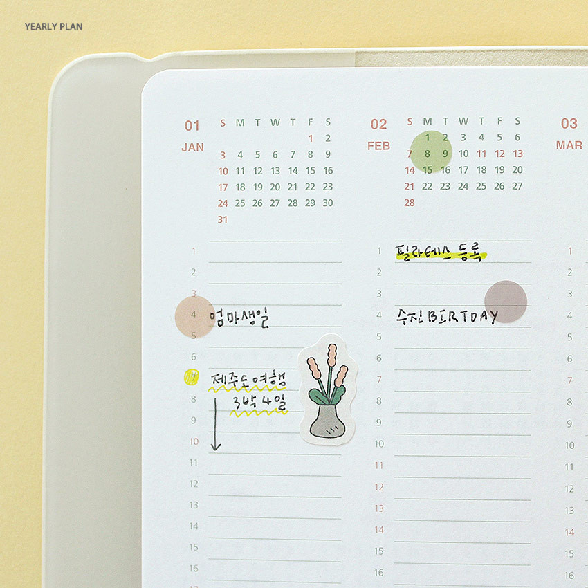 Yearly plan - 2021 The temperature of the day medium dated weekly planner