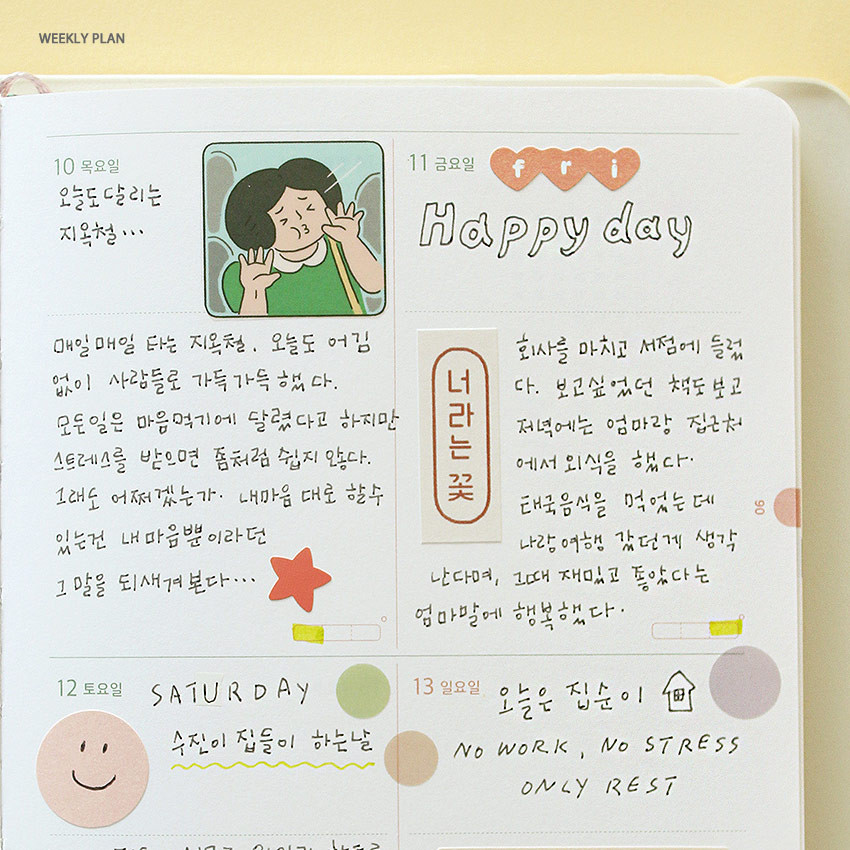 Weekly plan - 2021 The temperature of the day medium dated weekly planner