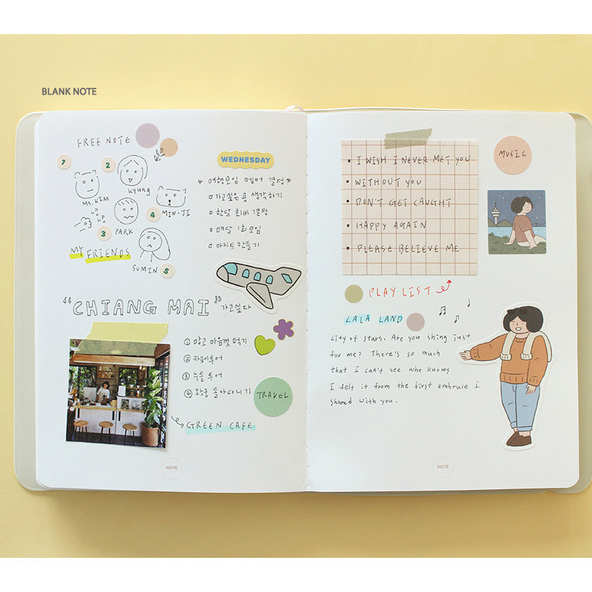 Blank note - 2021 The temperature of the day medium dated weekly planner