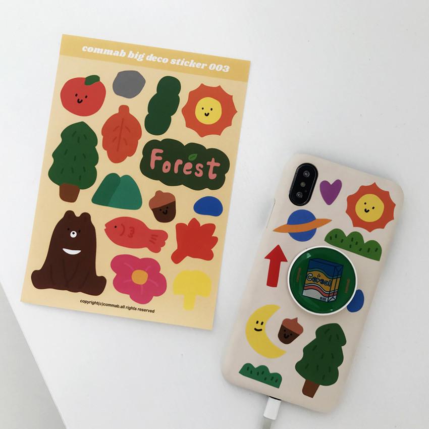 Usage example - Design comma-B Big deco paper sticker