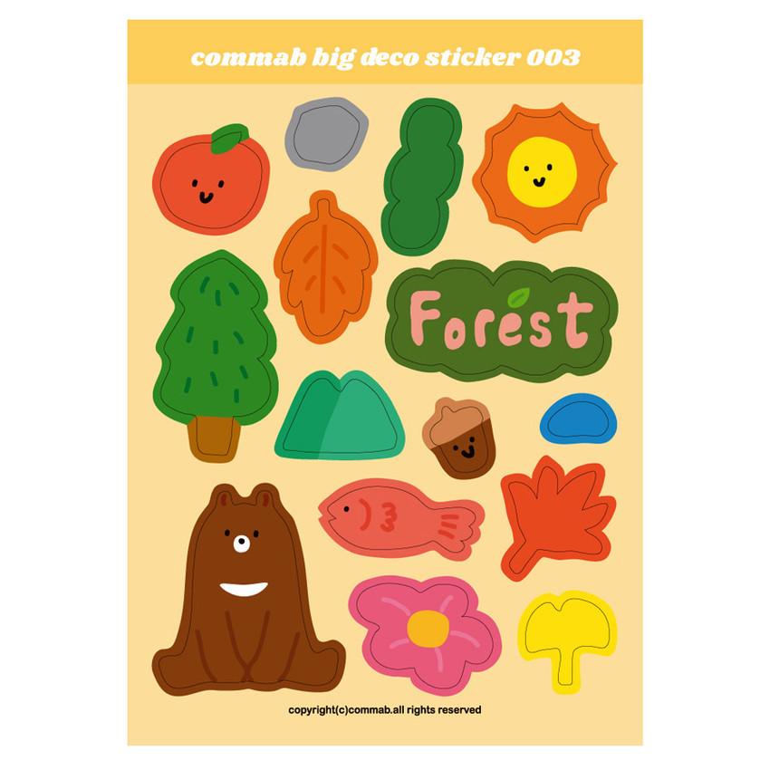 003 - Design comma-B Big deco paper sticker