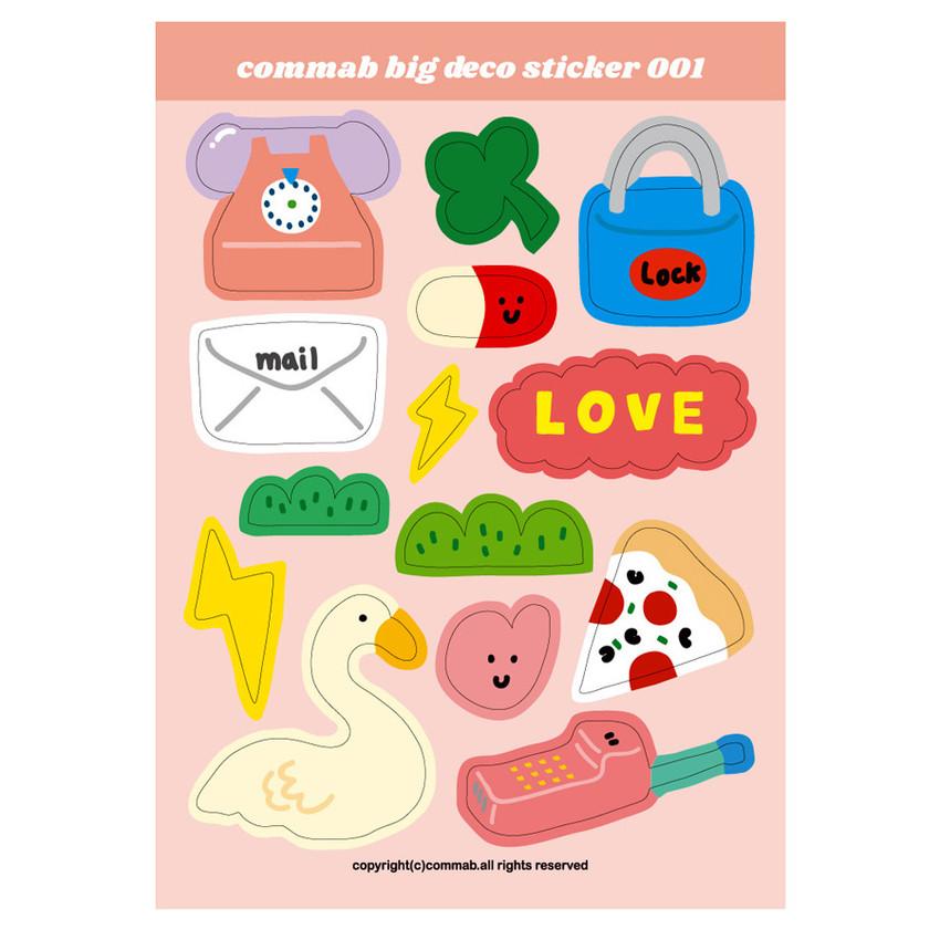 001 - Design comma-B Big deco paper sticker