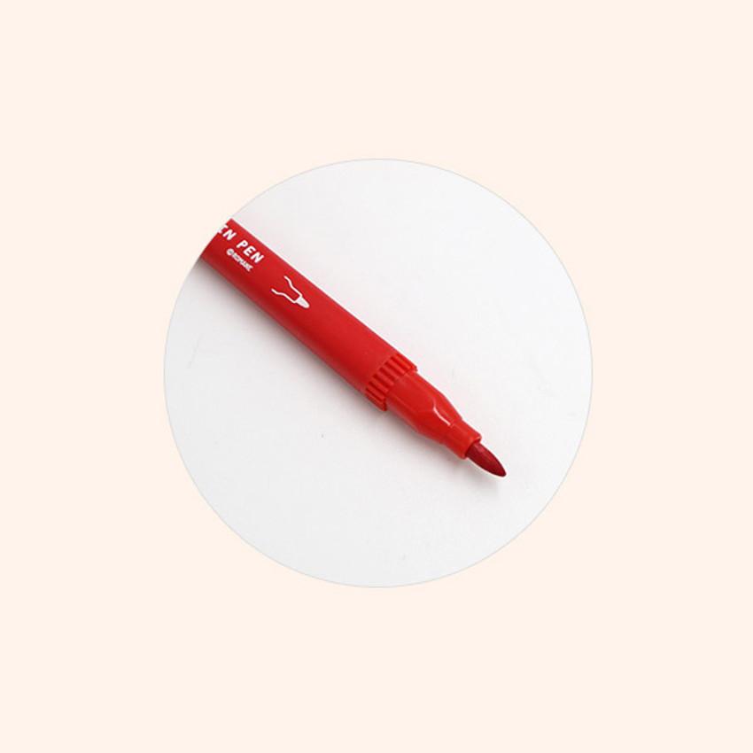 wide tip(4 mm) - ROMANE Four seasons double ended color pen set