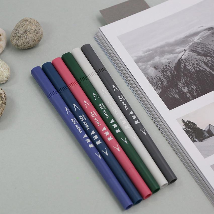 Winter - ROMANE Four seasons double ended color pen set