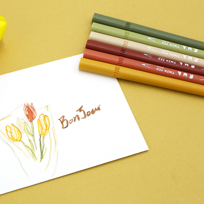 Autumn - ROMANE Four seasons double ended color pen set