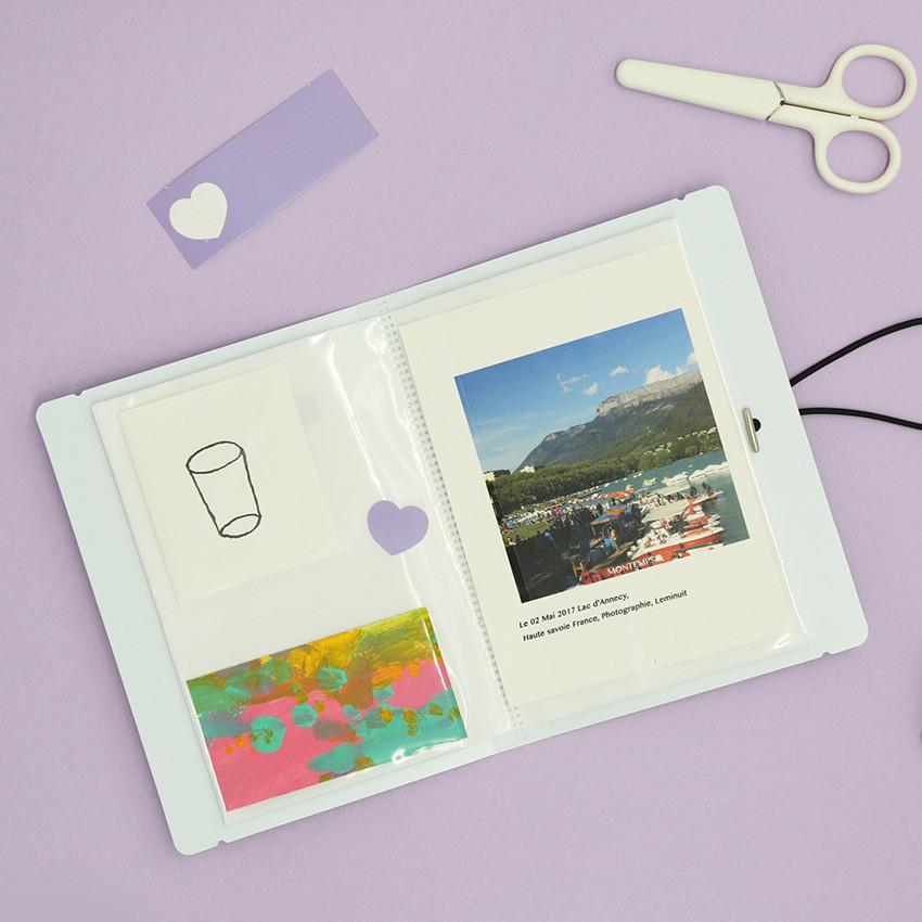 Usage example - ROMANE Donat Donat small and photo pocket folder album