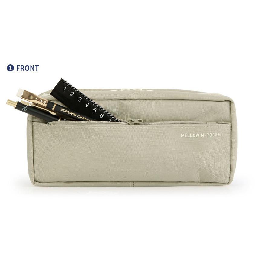 Front pocket - Monopoly Mellow M-pocket zipper pencil case pouch ver2