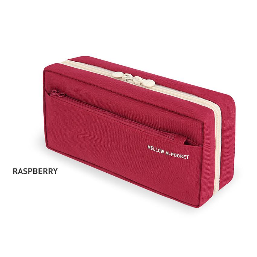 Raspberry - Monopoly Mellow M-pocket zipper pencil case pouch ver2