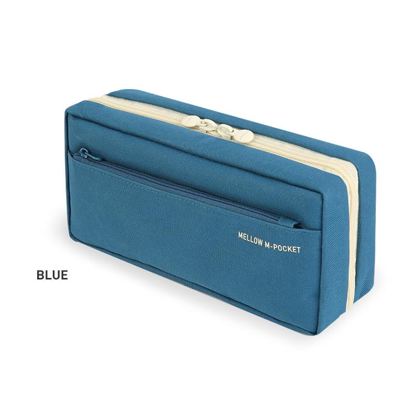 Blue - Monopoly Mellow M-pocket zipper pencil case pouch ver2