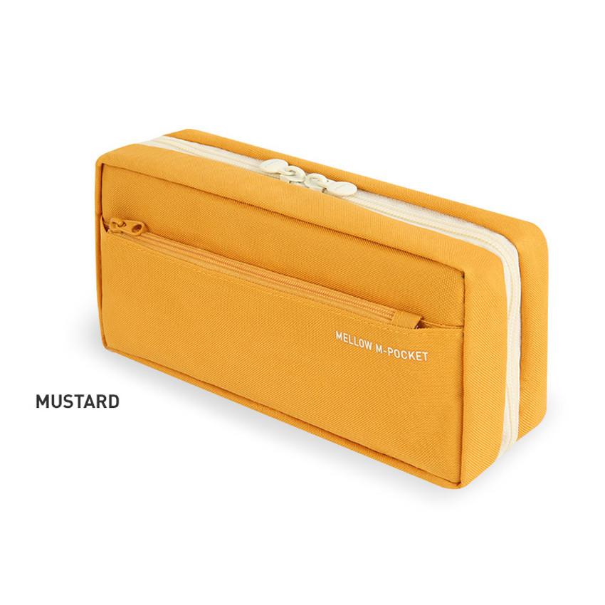 Mustard - Monopoly Mellow M-pocket zipper pencil case pouch ver2