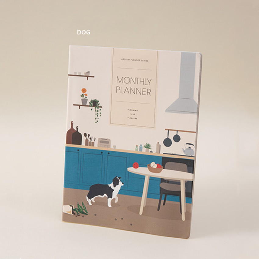 Dog - Ardium 2021 large dated monthly planner scheduler