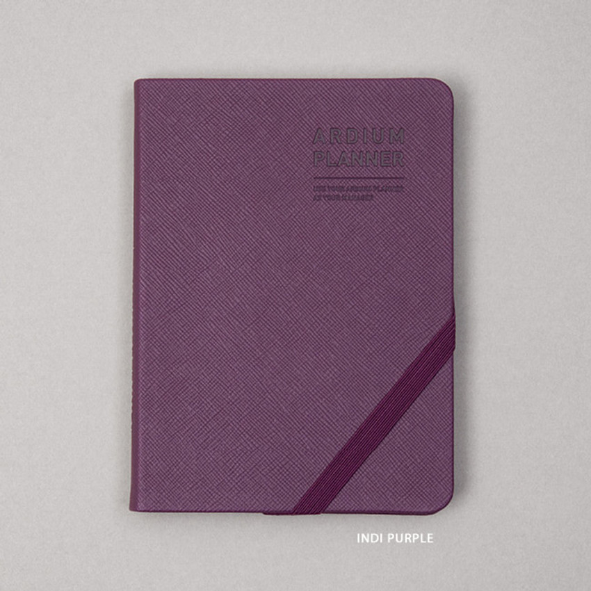 Indi purple - Ardium 2021 Simple small dated weekly planner scheduler
