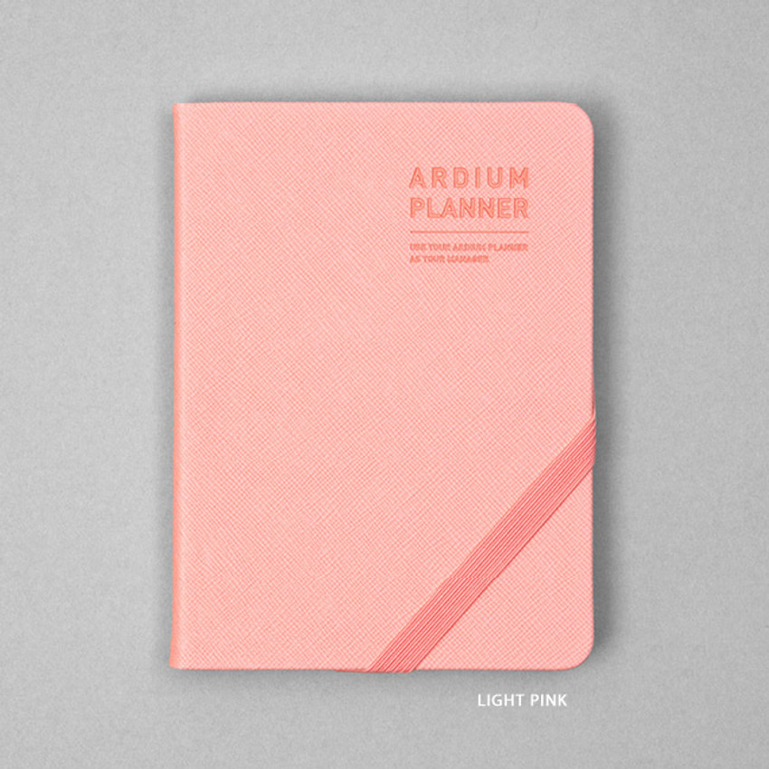 Light pink - Ardium 2021 Simple small dated weekly planner scheduler