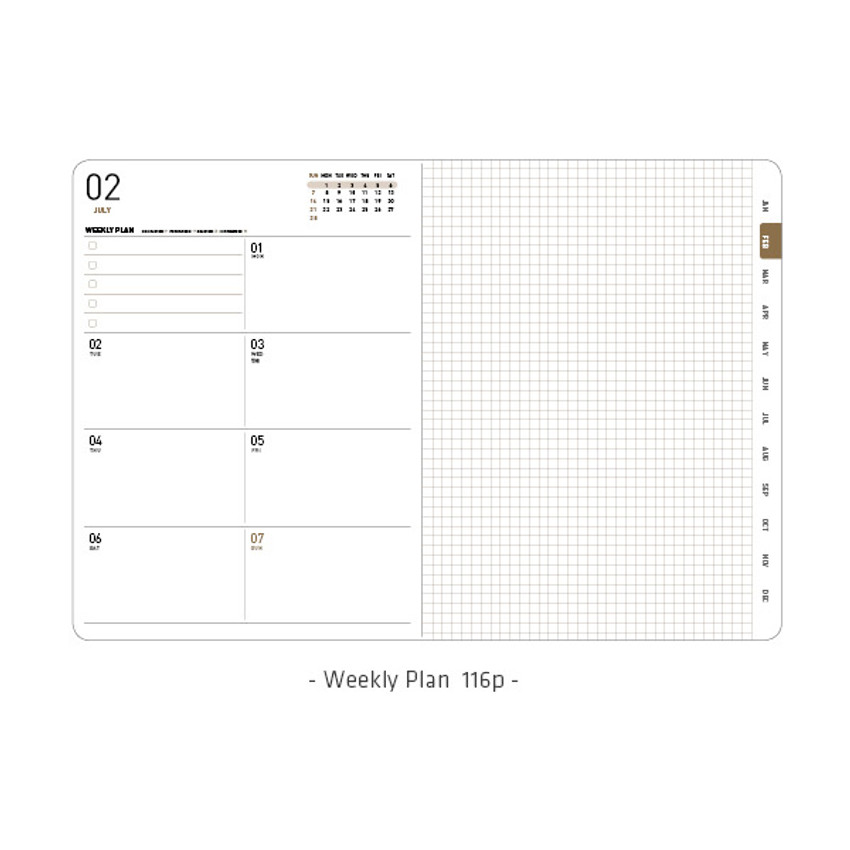 Weekly plan - Ardium 2021 Simple medium dated weekly planner scheduler