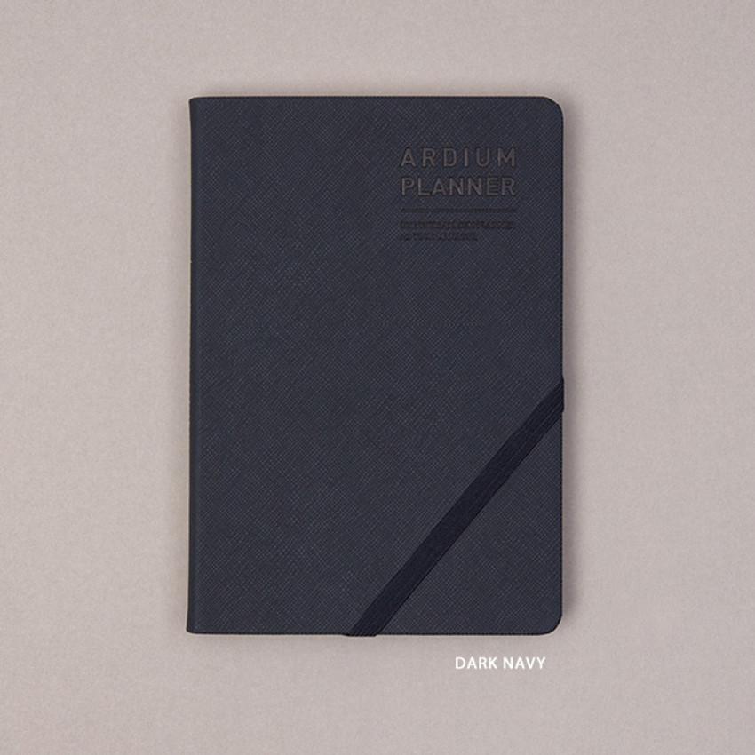 Dark Navy - Ardium 2021 Simple medium dated weekly planner scheduler