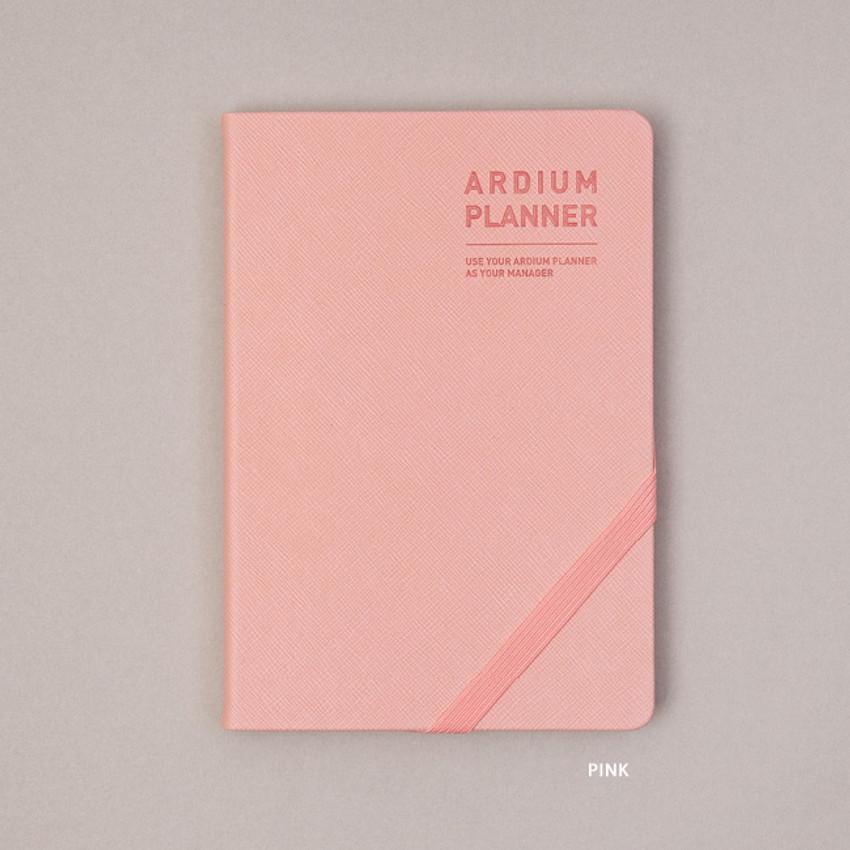 Pink - Ardium 2021 Simple medium dated weekly planner scheduler