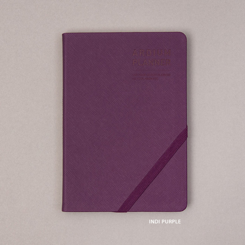 Indi purple - Ardium 2021 Simple medium dated weekly planner scheduler