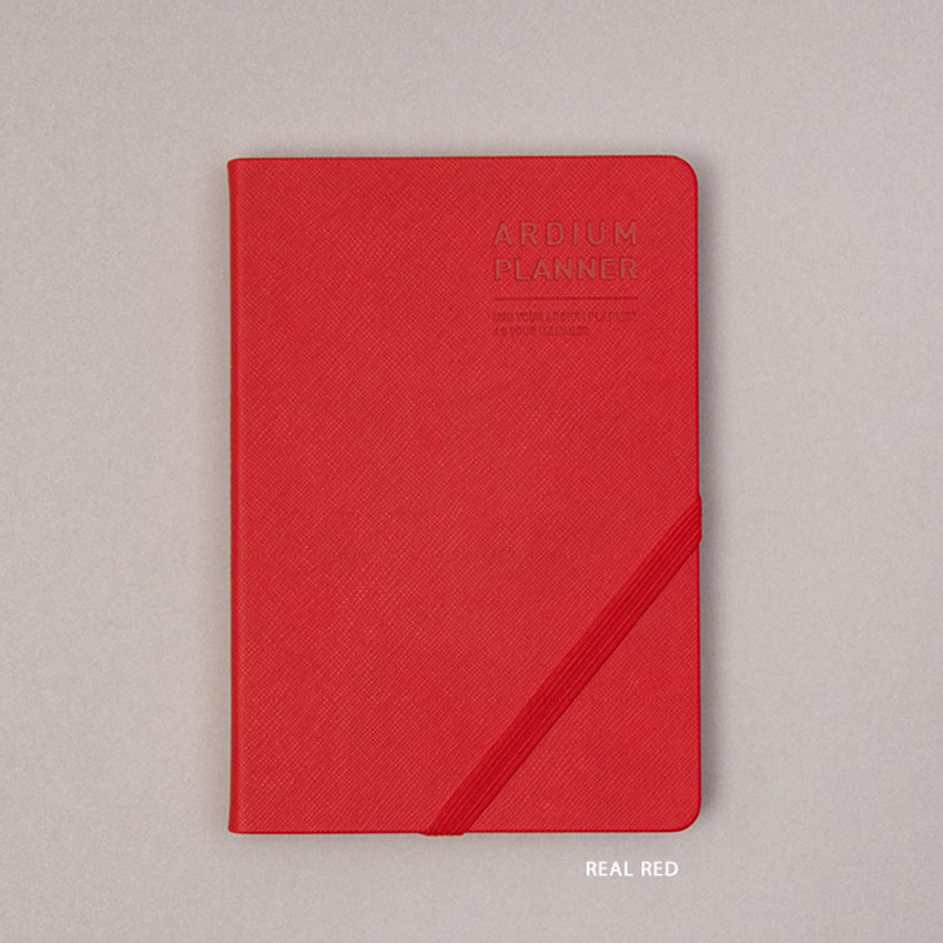 Real Red - Ardium 2021 Simple medium dated weekly planner scheduler