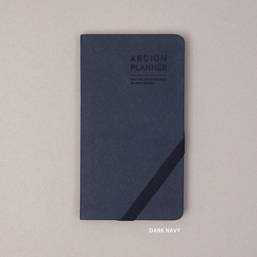 Dark Navy - Ardium 2021 Simple handy dated weekly planner scheduler
